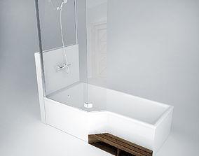 3D model Jacob Delafon Bath with shower