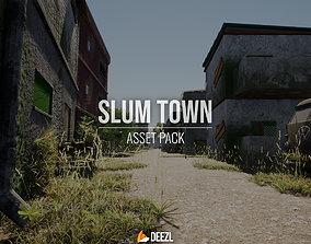 3D asset SLUM TOWN Modular Kit ALL FORMATS