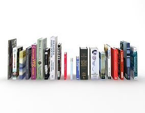 3D model Collection of hardcover books