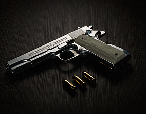 Colt 1911-A1 Model Goverment Pistol solidworks
