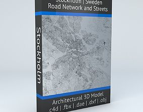 Stockholm Road Network and Streets 3D