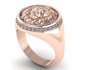 lion ring 3D print model rings