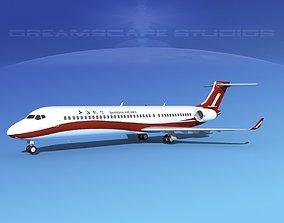 3D model Comac ARJ21-900 Shanghai