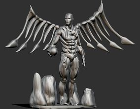 Cyborg Angel Damaged 3D printable model