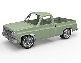 Diecast shell 1980 Chevrolet C10 with 3D print model 5