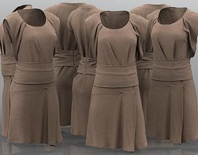 Brown Tunic Dress 3D asset