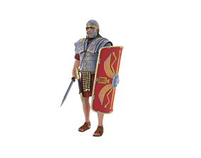3D model animated Roman Legionary