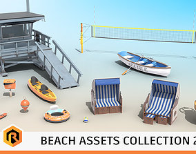 3D Beach Assets Collection 2