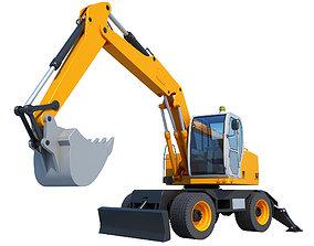 3D machine Excavator