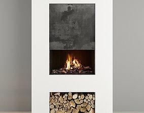 3D model Fireplace Modern 24