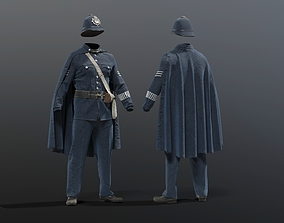 3D model POLICEMAN British bobby