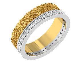 Band Ring For Ladies diamond-ring 3D print model
