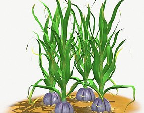 3D asset animated Garlic