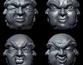 3D printable model Four faces Buddha