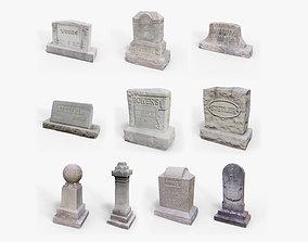 Gravestones Asset Pack VR / AR ready