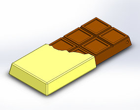 Chocolate Bar Keychain Charm 3D printable model