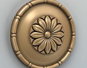 Round rosette 001 3D