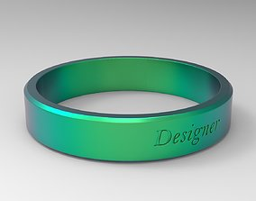 3D printable model Designer Ring Green