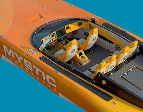 3D Mystic Powerboat C3800 YELLOW