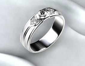White Enamel Gold Ring jewel 3D printable model