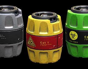 Realistic Barrels Pack PBR 3D asset