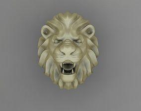 poly 3D printable model lion ring