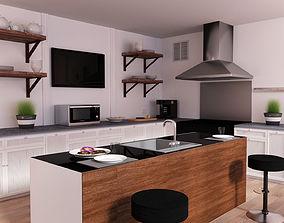 3D interior 3d Kitchen
