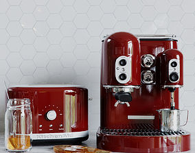 3D KitchenAid Coffemaker and Toaster