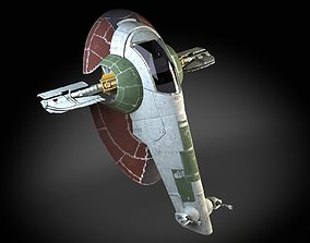 3D model Star Wars Boba Fett Slave I