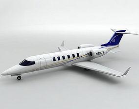 3D asset Bombardier Learjet 40 Aircraft