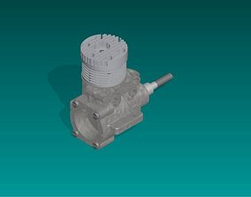 3D model motor Motor Glow Plug