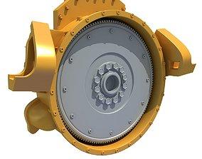 Yellow Engine Part V6 3D
