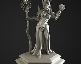 necromancer girl 3D print model