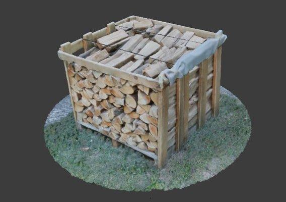 Wood Heap - Scanned Low-poly 3D model