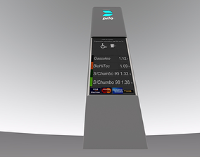 Gas station signal 3D model