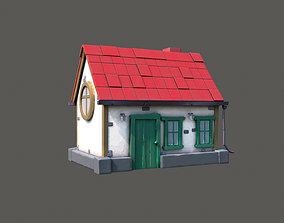 3D asset realtime PBR Cartoon House