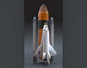 3D asset NASA Endeavour Space Shuttle with Space Tank 2