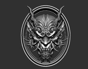 dragon head 3D printable model bas-relief