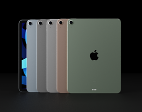 Apple iPad Air 4 In All Official Colors 3D asset