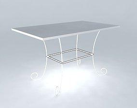 3D model Table ST GERMAIN Ivory Maisons du monde