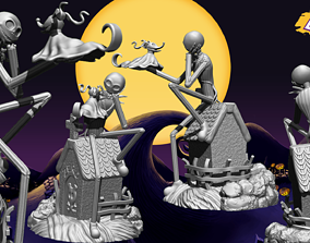 3D printable model Jack Skellington And Zero - The 2