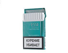 Cigarettes Pack Esse Menthol 3D model
