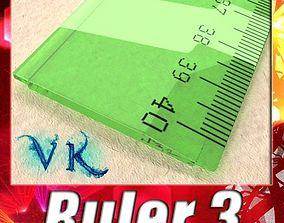 Ruler 03 High res 3D model
