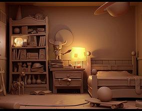 3D model Cartoon bookshelf