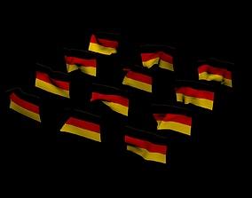 3D model German National Flag
