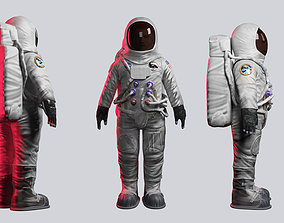 rigged game-ready Astronaut 3D model rigged