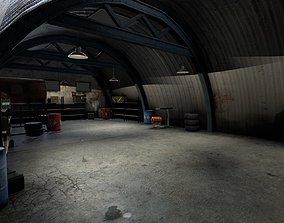 3D asset Old garage