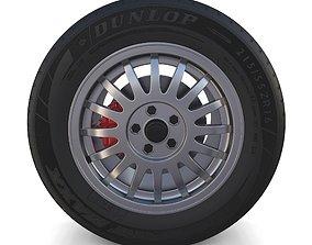 Generic Alloy Wheel and Brake 3D model