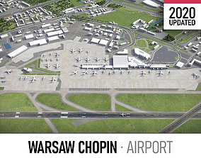 Warsaw Chopin Airport - WAW 3D model realtime