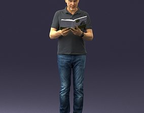3D printable model Man with book 0146